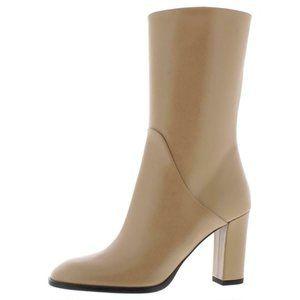 NWT Via Spiga Adrinna Leather Mid-Calf Boots 8 MD